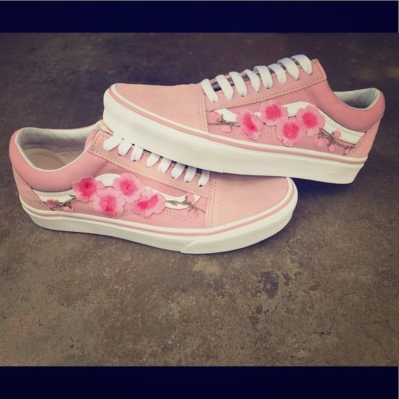 Vans Shoes | Sale Cherry Blossom Custom